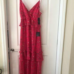 BRAND NEW Lulu's pink floral maxi dress